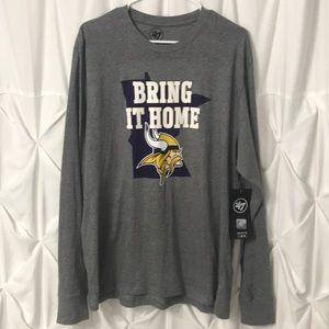 "Minnesota Vikings LS ""Bring it Home"" Tee NFL NWT"